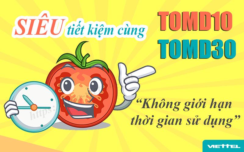 2 gói cước Tomato Data 4G Viettel không giới hạn thời gian sử dụng