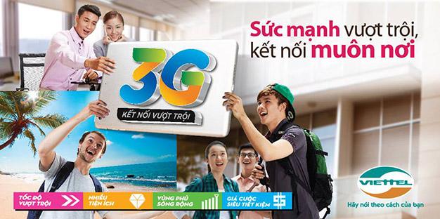3G Viettel sức mạnh vượt trội - Kết nối muôn nơi