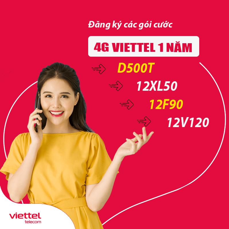 Hướng Dẫn Đăng Ký 4G Viettel 1 Năm Trọn Gói Tặng 5GB/Tháng