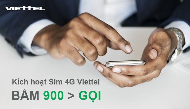 Hướng dẫn cách kích hoạt sim 4G Viettel cực nhanh qua 900