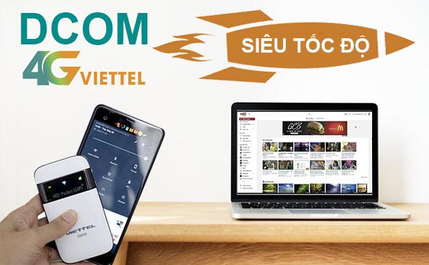 Hướng dẫn đăng ký các gói cước Dcom 4G Viettel mới nhất 2018
