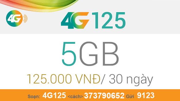 Cách đăng ký gói 4G125 Viettel nhận ngay 5GB giá chỉ 125.000đ