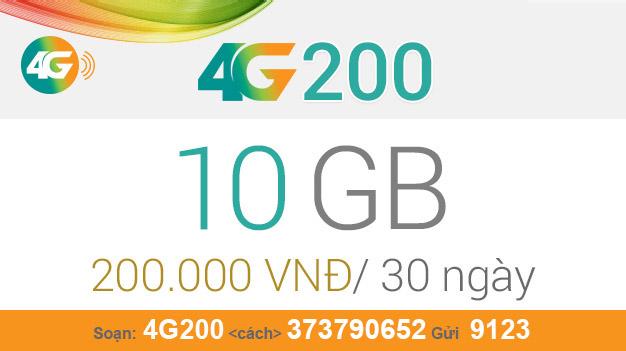 Cách đăng ký gói 4G200 Viettel nhận ngay 10GB giá chỉ 200.000đ/tháng