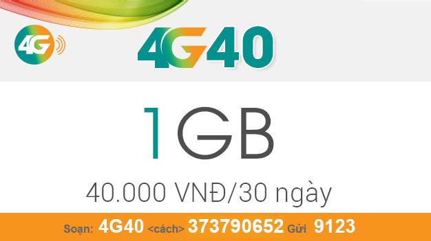 Cách đăng ký gói 4G40 Viettel nhận ngay 1GB giá chỉ 40.000đ/tháng