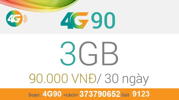 Cách đăng ký gói 4G90 Viettel nhận ngay 3GB giá chỉ 90.000đ/tháng