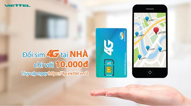 Đổi sim 4G Viettel online tại nhà