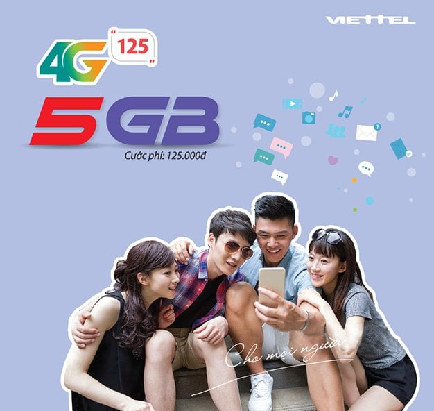 Gói 4G125 của Viettel 5GB Data