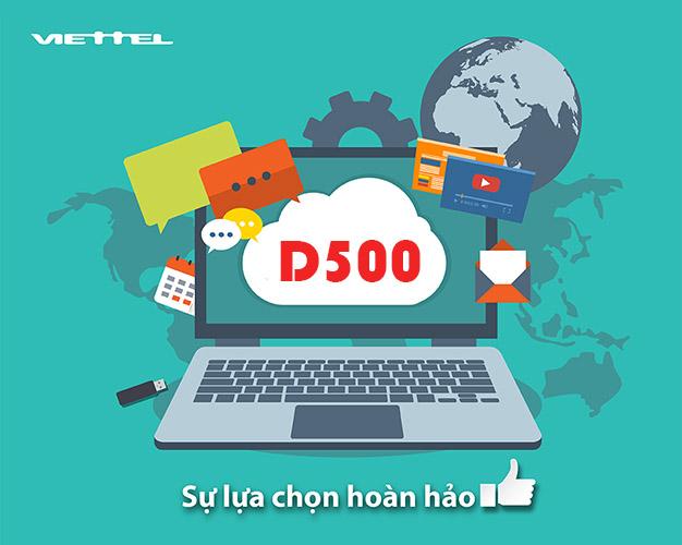 Cách đăng ký gói D500 Viettel xài 4G cả năm mỗi tháng 4GB Data