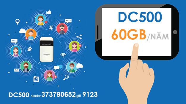 Cách đăng ký gói DC500 Viettel trọn gói 1 năm tặng 5GB mỗi tháng