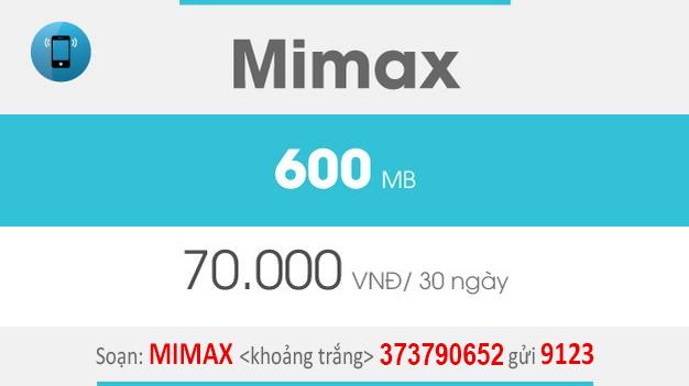 Cách đăng ký Mimax Viettel giá rẻ 70.000đ có ngay 600MB trọn gói