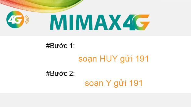 2 bước hủy gói Mimax 4G Viettel chưa đến 1 phút 30 giây