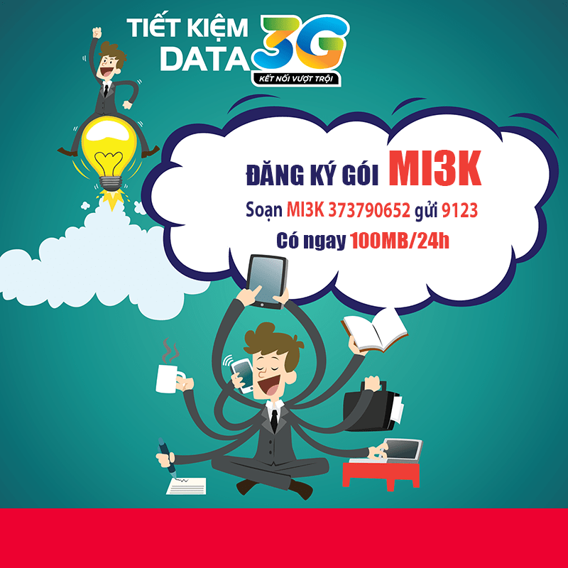 Đăng ký 3G Viettel 1 ngày 3000đ - Gói Mi3K Viettel sử dụng đến 24h
