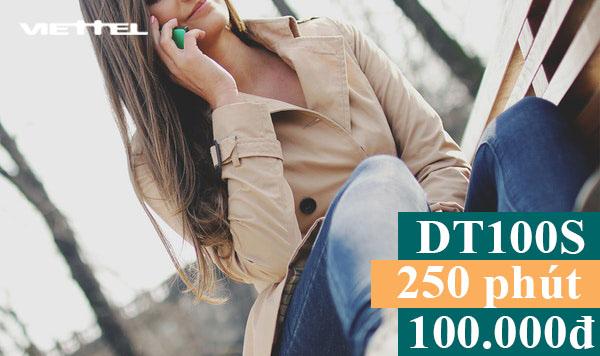 Đăng ký 250 phút gọi Viettel nội mạng giá rẻ chỉ 100.000đ/tháng