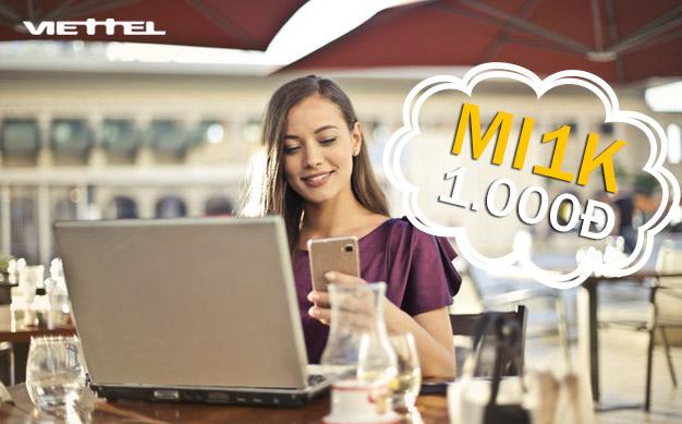 Đăng ký 3G Viettel 1 ngày 1000đ - Gói MT1K Viettel khuyến mãi 1GB Data