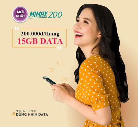 Đăng ký gói Mimax200 Viettel ưu đãi 15GB Data giá chỉ 200.000đ/tháng