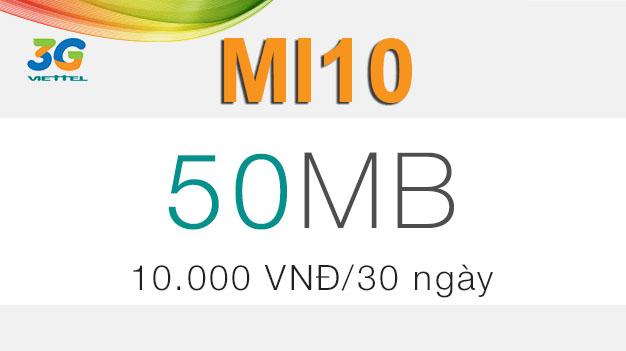 Cách đăng ký gói cước Mi10 Viettel giá 10.000đ có ngay 50MB