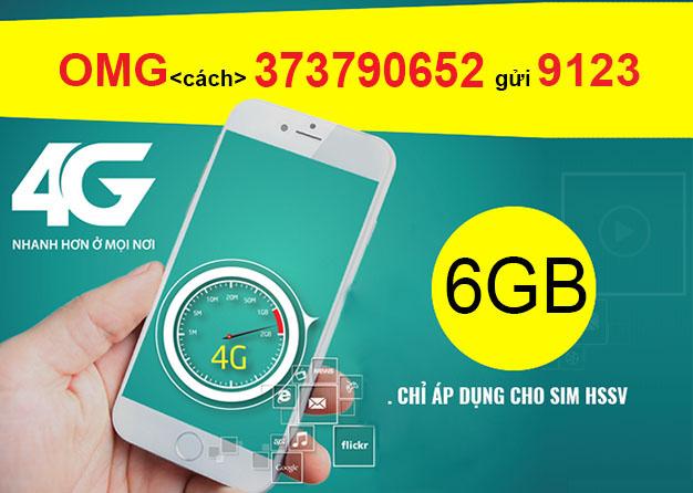 Đăng ký gói OMG Viettel ưu đãi 6GB + Free Data Facebook, Free Mocha