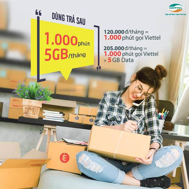 Dùng trả sau Viettel gọi thoải mái, Data siêu ưu đãi chỉ từ 120.000đ/tháng