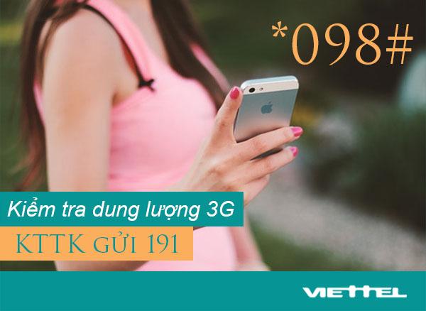 Hướng dẫn 2 cách kiểm tra dung lượng 3G Viettel đơn giản nhanh nhất