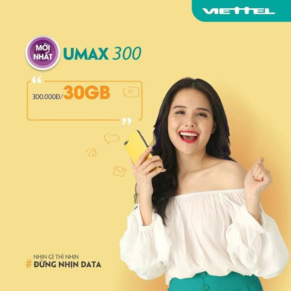 Dùng Data không giới hạn tốc độ cao với Umax300 Viettel