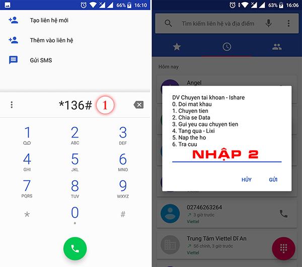 Chia sẻ Data Viettel cho thuê bao khác 136