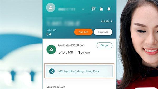 Hướng dẫn cách chia sẻ Data Viettel cho thuê bao khác
