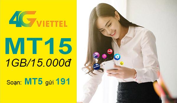 MT15 Viettel - Gói cước mua thêm 1GB Data 3G/4G giá chỉ 15.000đ