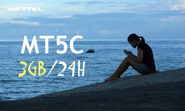 Khuyến mãi gói MT5C Viettel giá 5.000đ/ngày có ngay 3GB Data