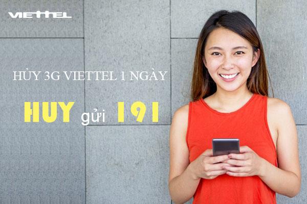 Cách hủy 3G Viettel 1 ngày cực nhanh chỉ cần 2 bước miễn phí