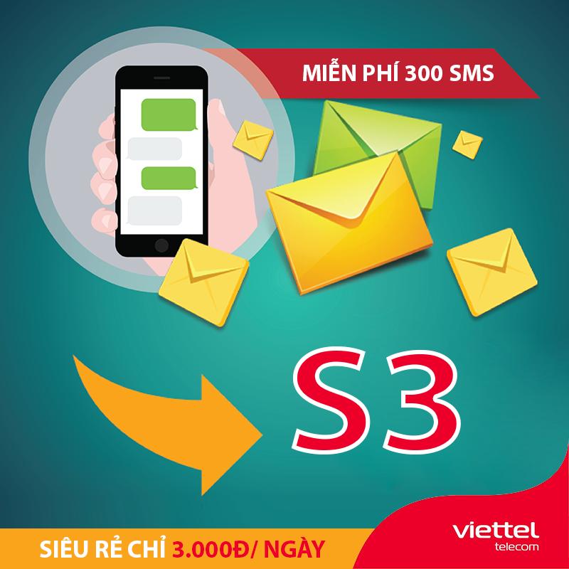 Cách đăng ký 300 tin nhắn Viettel giá chỉ 3.000đ - S3 Viettel