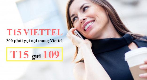 Cách đăng ký 200 phút gọi của Viettel chỉ 15.000đ – T15 Viettel