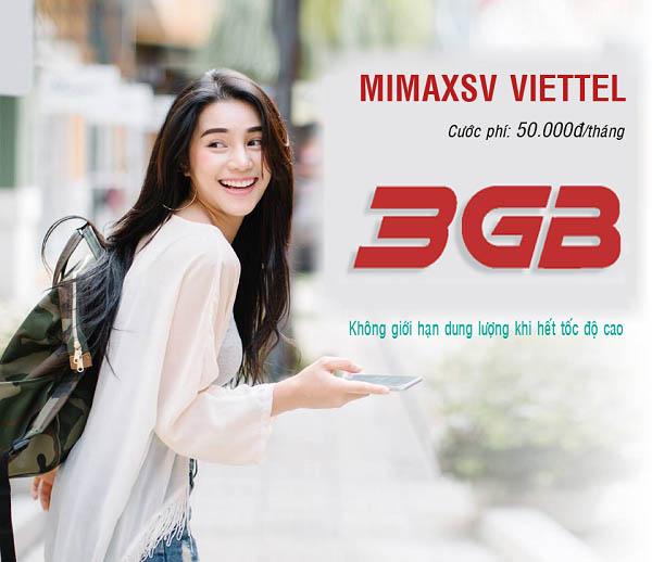 Đăng ký gói cước 3G Viettel sinh viên có ngay 3GB giá ưu đãi giảm còn 50.000đ