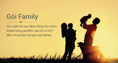 Gói Family trả sau dành cho nhóm gia đình, bạn bè