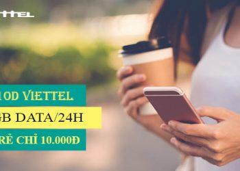 Đăng ký gói Mi10D Viettel có ngay 1GB giá chỉ 10.000đ/ngày