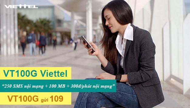Đăng ký gói VT100G Viettel ưu đãi 250SMS + 100MB Data giá chỉ 3.000đ