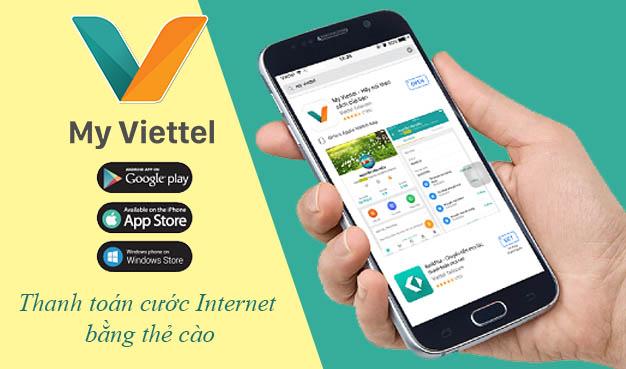 Cách thanh toán cước Internet Viettel bằng thẻ cào trên My Viettel