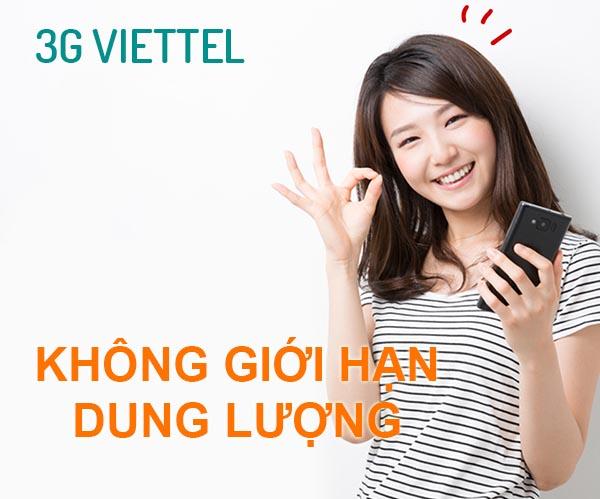 Đăng ký gói cước 3G Viettel không giới hạn dung lượng mới nhất