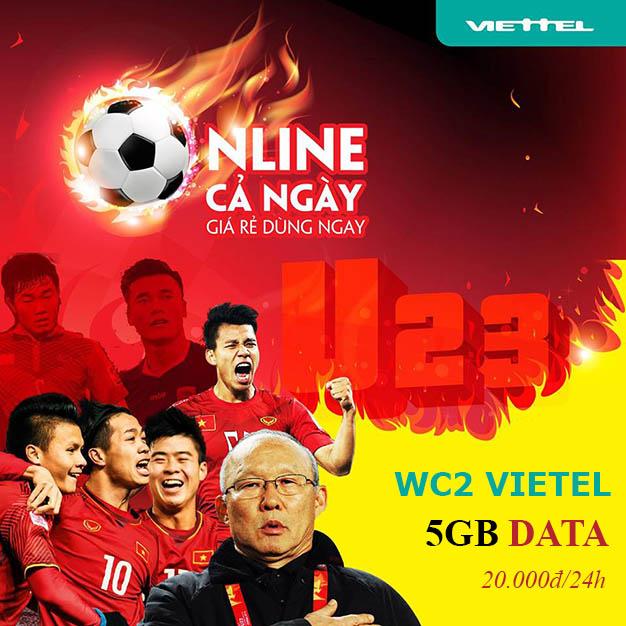 Đăng ký gói WC2 Viettel xem ASIAD Thả ga, sát cánh cùng U23 Việt Nam