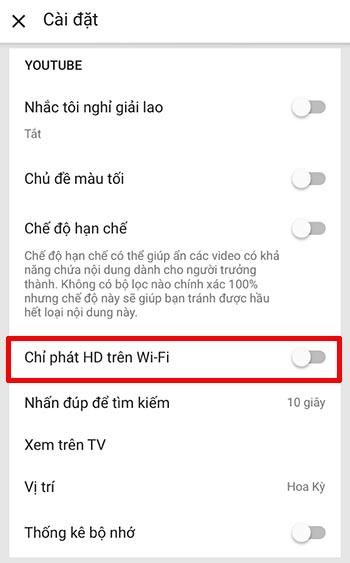 Tiết kiệm dung lượng 3G/4G Youtube Viettel