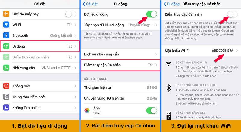 Các bước phát Wifi từ điện thoại Iphone cho thiết bị khác
