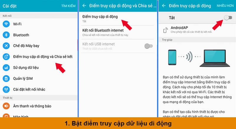 Các bước phát Wifi từ điện thoại samsung cho thiết bị khác