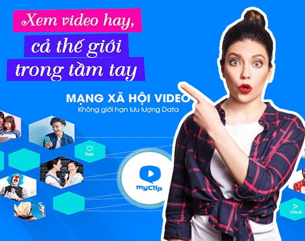 My Clip Viettel - Mạng xã hội Video đặc sắc miễn phí Data 3G/4G