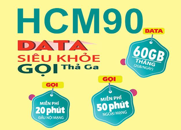 Đăng ký gói HCM90 Viettel ưu đãi 60GB Data giá chỉ 90.000đ/tháng