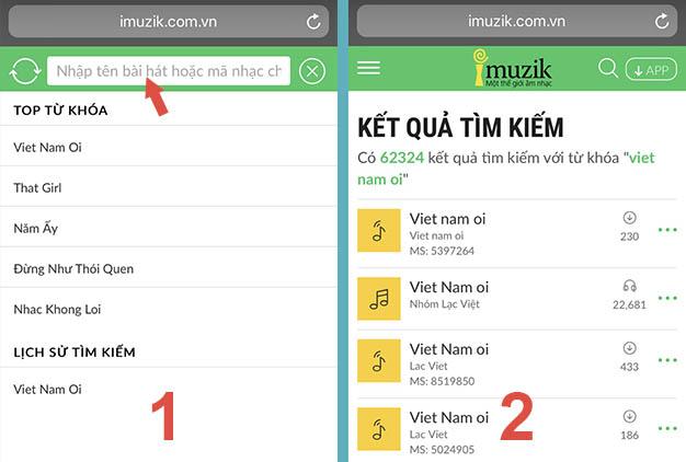 # Cách 1: Nghe thử nhạc chờ từ Website Imuzik.com.vn