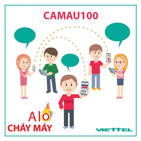Đăng ký gói CAMAU100 Viettel ưu đãi 3GB/ngày + 50 phút ngoại mạng