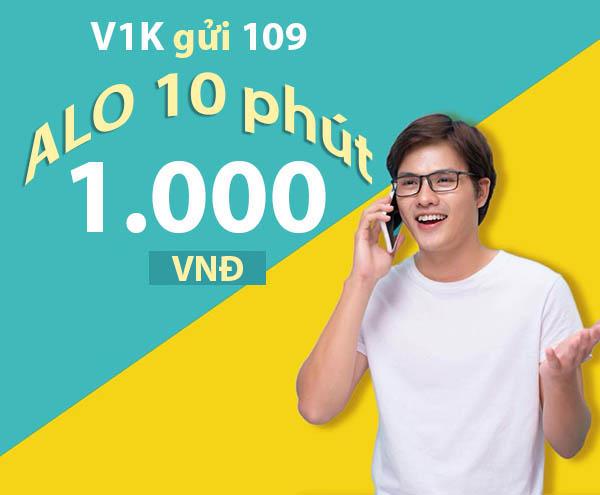 """""""ALO 10 phút chỉ 1.000đ"""" khi đăng ký gói cước V1K của Viettel"""