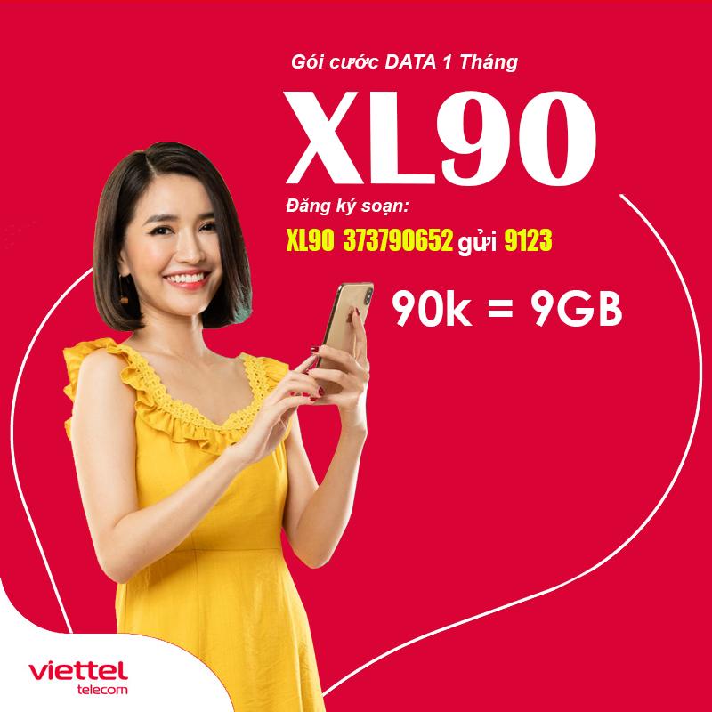 Đăng Ký Gói XL90 Viettel Ưu Đãi 9GB Data Giá Chỉ 90.000đ/tháng