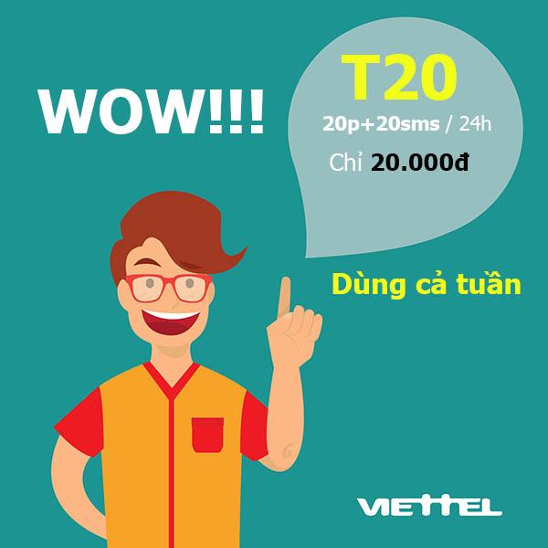 Đăng ký 20 phút gọi nội mạng Viettel chỉ 20.000đ - Gói T20 Viettel