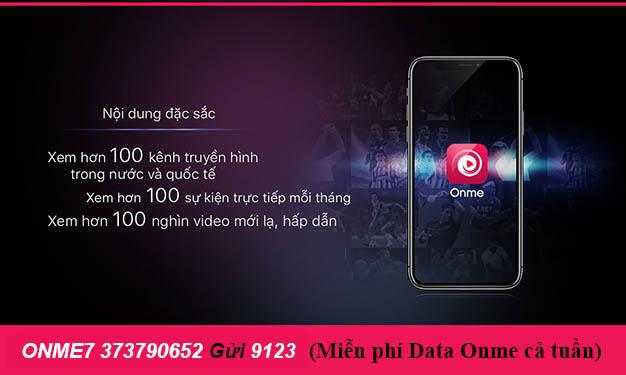 Đăng ký gói Onme7 Viettel chỉ 10.000đ miễn phí Data Onme cả tuần
