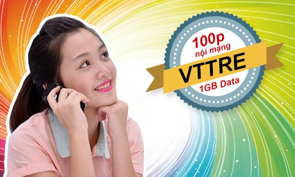 Đăng ký 100 phút gọi nội mạng Viettel + 1GB cùng gói VTTRE chỉ 50.000đ